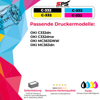 Kompatibel für OKI C332 / 46508709 Toner Gelb