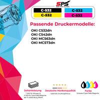 Kompatibel für OKI C532 / 46490606 Toner Magenta