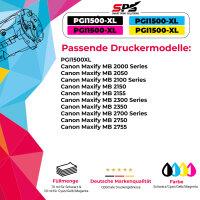 10er Multipack Set kompatibel für Canon MAXIFY MB2120 Druckerpatronen PGI-1500XL