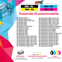 10er Multipack Set kompatibel für HP Deskjet D5400 Druckerpatronen 364XL