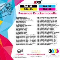 10er Multipack Set kompatibel für HP Deskjet D5460 Druckerpatronen 364XL