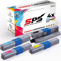 4er Multipack Set Kompatibel für OKI MC363 Drucker Toners OKI 46508712 Schwarz, 46508711 Cyan, 46508709 Gelb, 46508710 Magenta