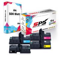 4er Multipack Set Kompatibel für OKI C532 Drucker Toners OKI 46490608 Schwarz, 46490607 Cyan, 46490605 Gelb, 46490606 Magenta