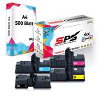 4er Multipack Set Kompatibel für OKI C542 Drucker Toners OKI 46490608 Schwarz, 46490607 Cyan, 46490605 Gelb, 46490606 Magenta